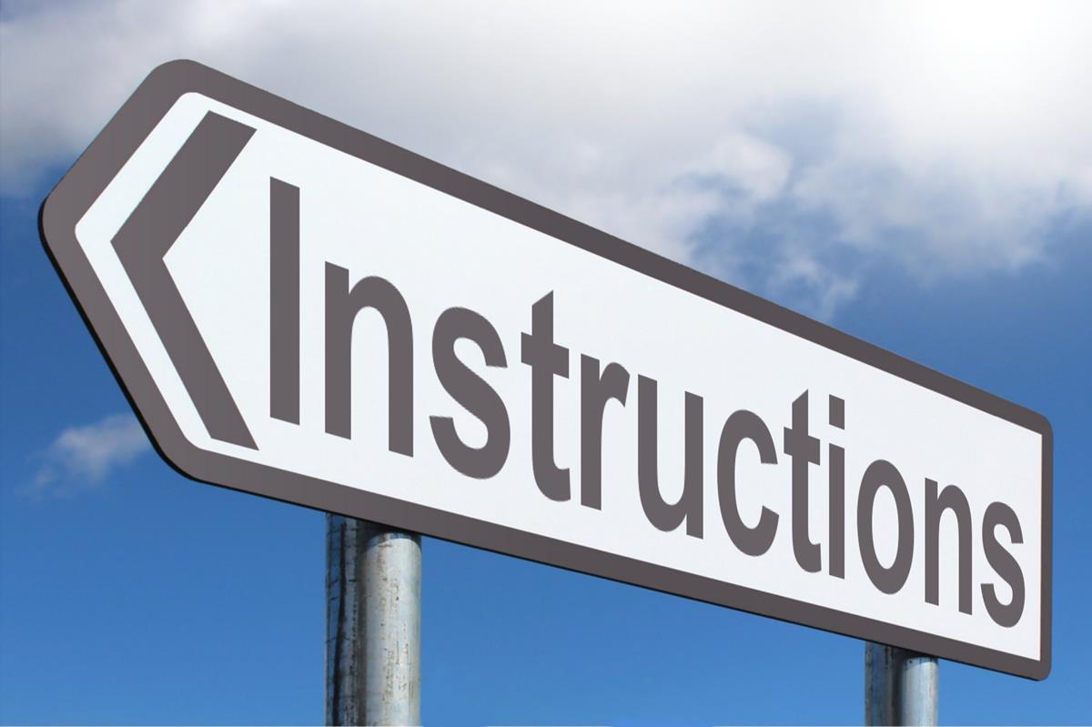Instructions - logging in